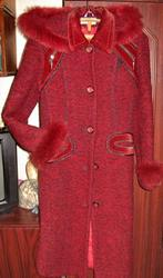 Продам пальто зимнее,  темно-красного цвета